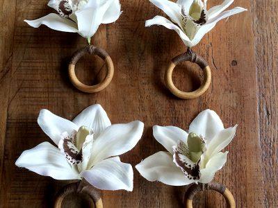 Orquideas - Anéis de guardanapos