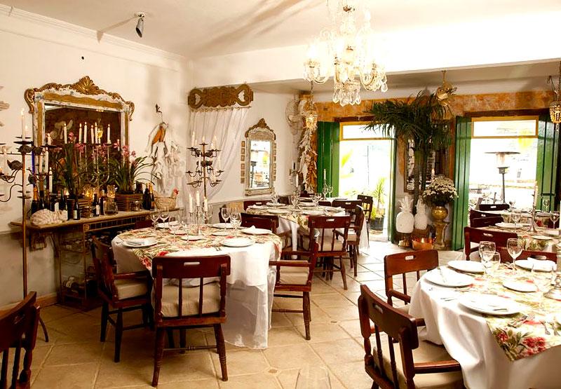 Restaurante romântico em Paraty