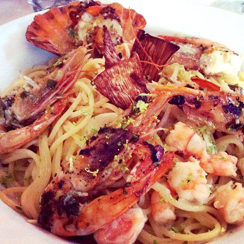 Spaghetti Mare e Mata temperado