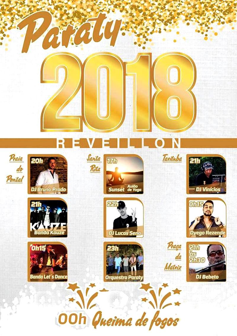 Programação de Ano Novo em Paraty - 2018