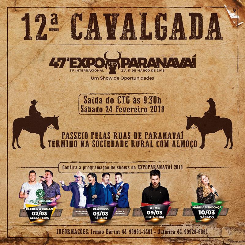 12ª Cavalgada - ExpoParanavaí 2018