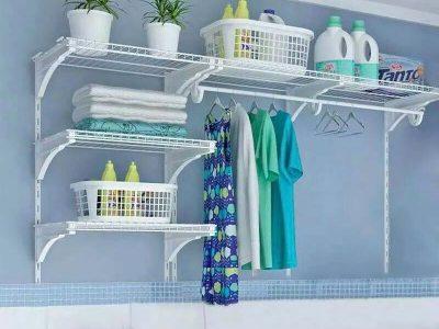 Prateleira funcional para lavanderia