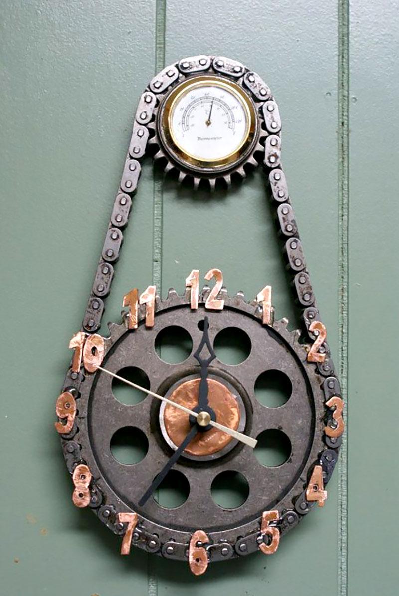 Relógio de Parede Engrenagem mecânica