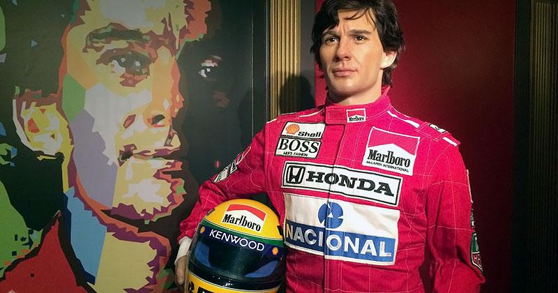 Ayrton Senna no Museu de Cera