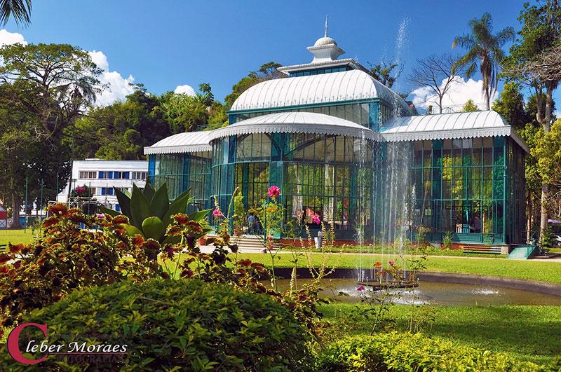 Palácio de Cristal na cidade Imperial em Petrópolis