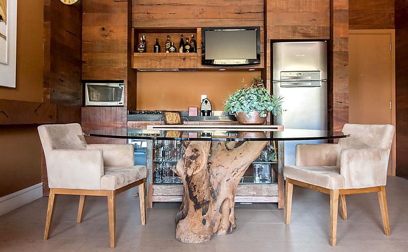Base de Mesa feito com Tronco de Árvore