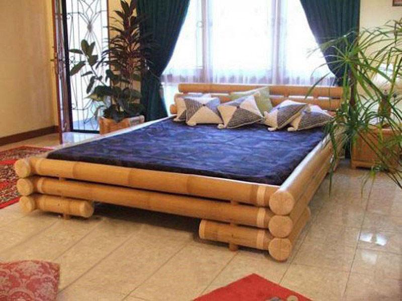 Box de cama feito com Bambu