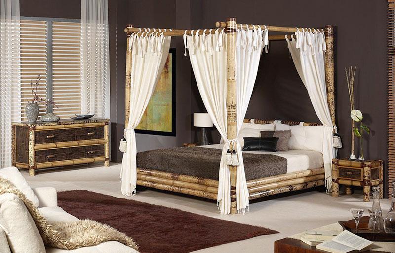 Cama feito com Bambu