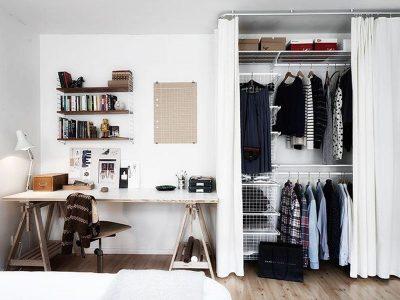 Cortinas para closet de roupas