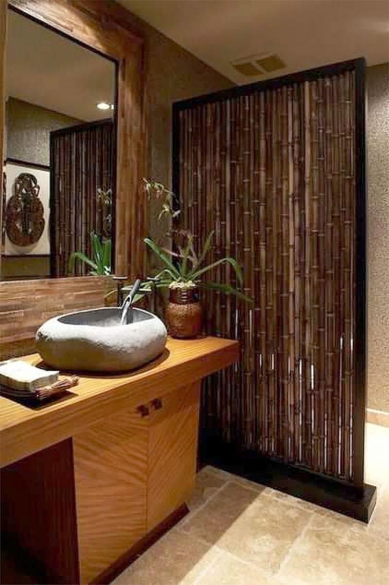 Decoração - Divisória de Bambu