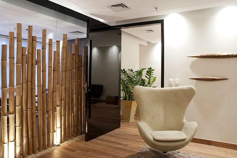 Divisória feito com Bambu