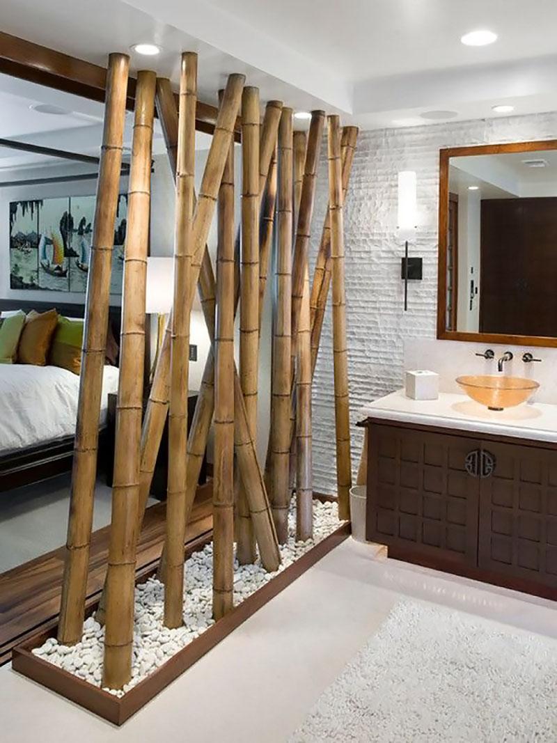 Divisória de ambiente feito com Bambu