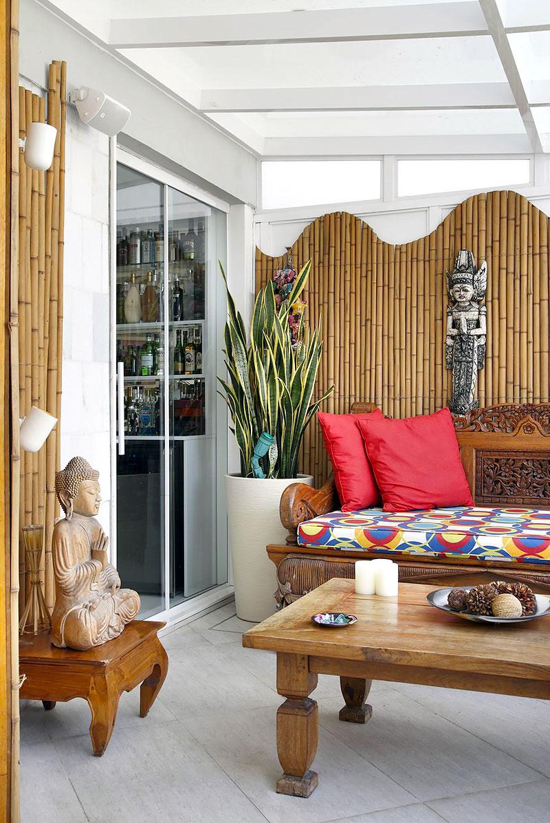 Espaço Zen decorado com Bambu