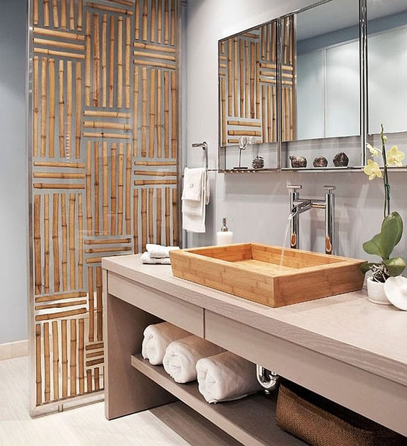 Divisória de ambiente de Bambu