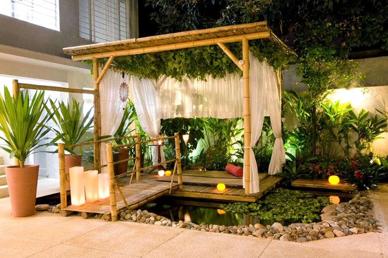 Quiosques feito com Bambu