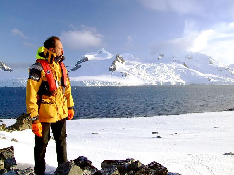 Amyr Klink no Polo Sul