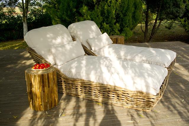 Cadeiras de tomar sol confortáveis